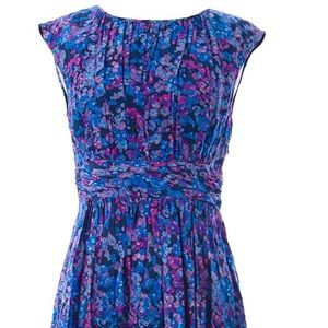 Boden Blue & Purple Selina dress Size 6 (US)